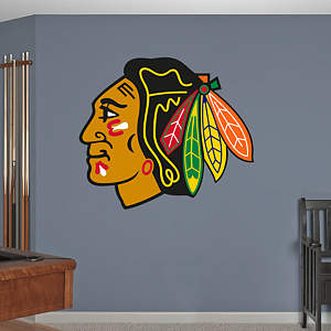 Chicago Blackhawks Logo Fathead Wall Decal
